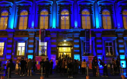 Croatian Music Institute during the grand opening night of ZAGREB KOM 4