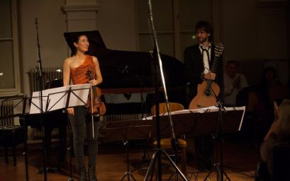 Susanna Yoko Henkel and Petrit Çeku at the Contemporary Music Lounge